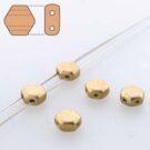 Czech Glass Honeycomb Beads, Crys. Pale Gold Matt